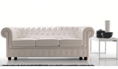 Canapé chesterfield en cuir Fishlake