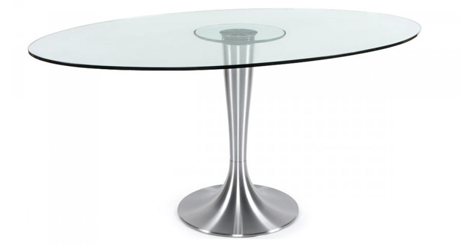 Table ovale en verre Jenny
