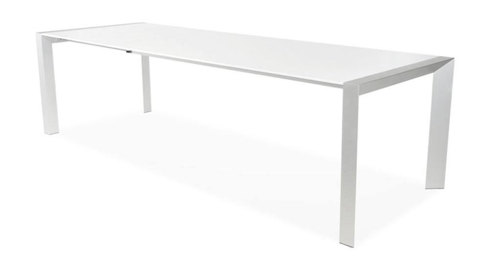 Table extensible blanc laqué 14 personnes Domitille