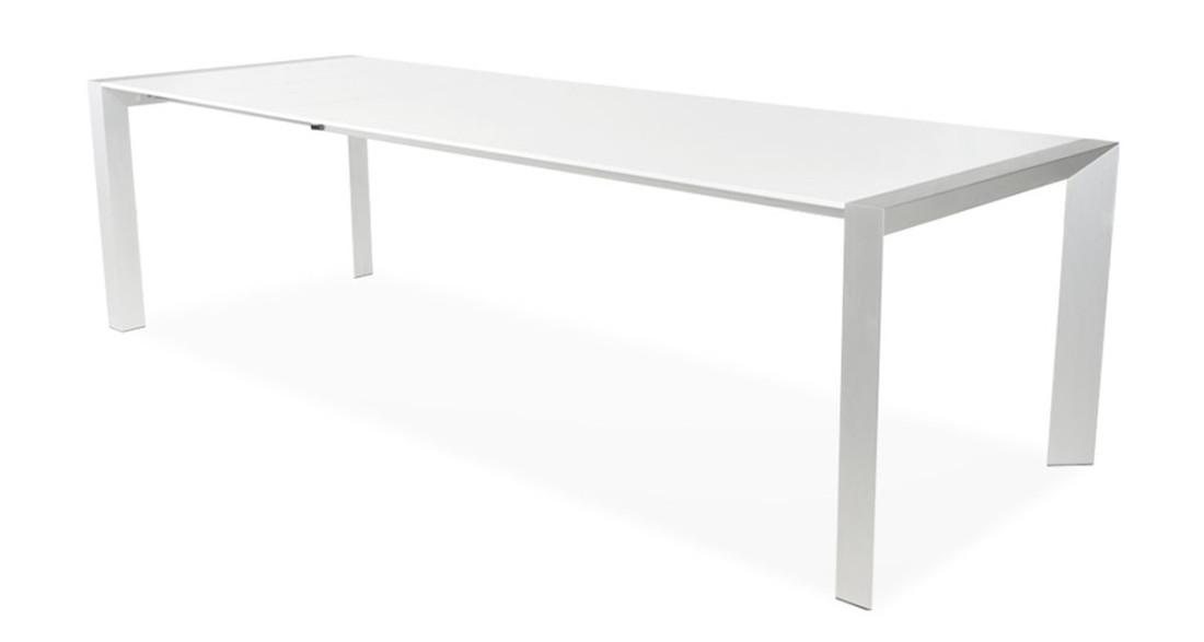Table extensible blanc laqué 14 personnes design chic Domitille