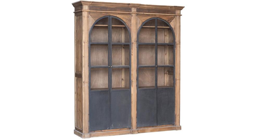Grande bibliothèque en bois ancien Barnabe