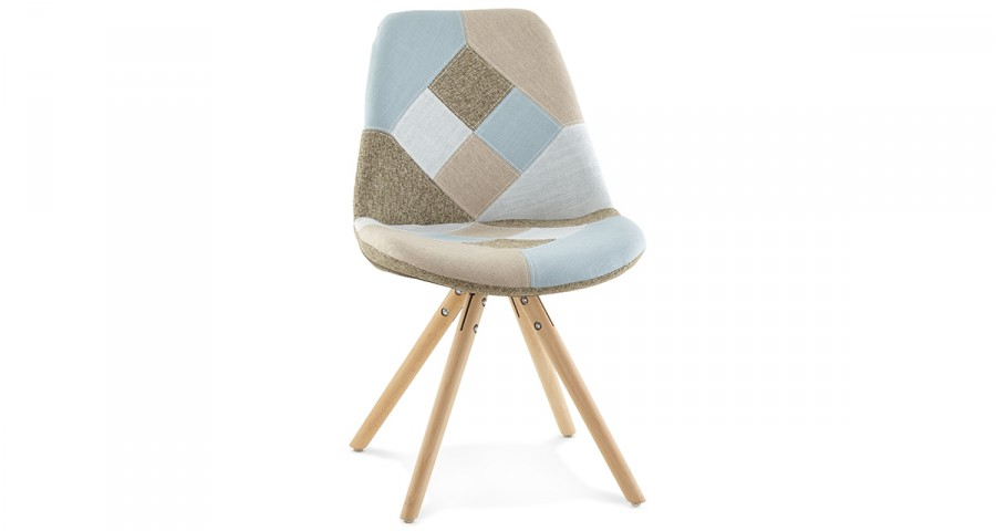 Chaise patchwork scandinave Norwaiss