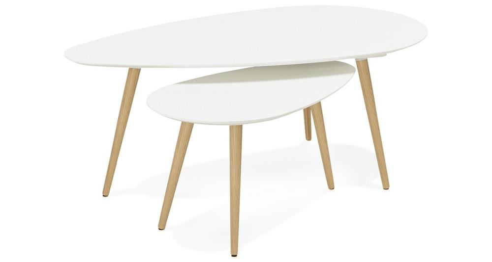 Table basse gigogne blanche Örebro