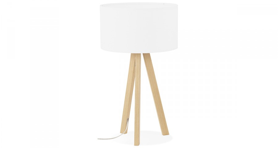 Lampe à poser blanche design scandinave Frost