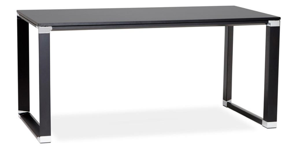 Bureau rectangulaire chic en bois noir 160 cm Kline