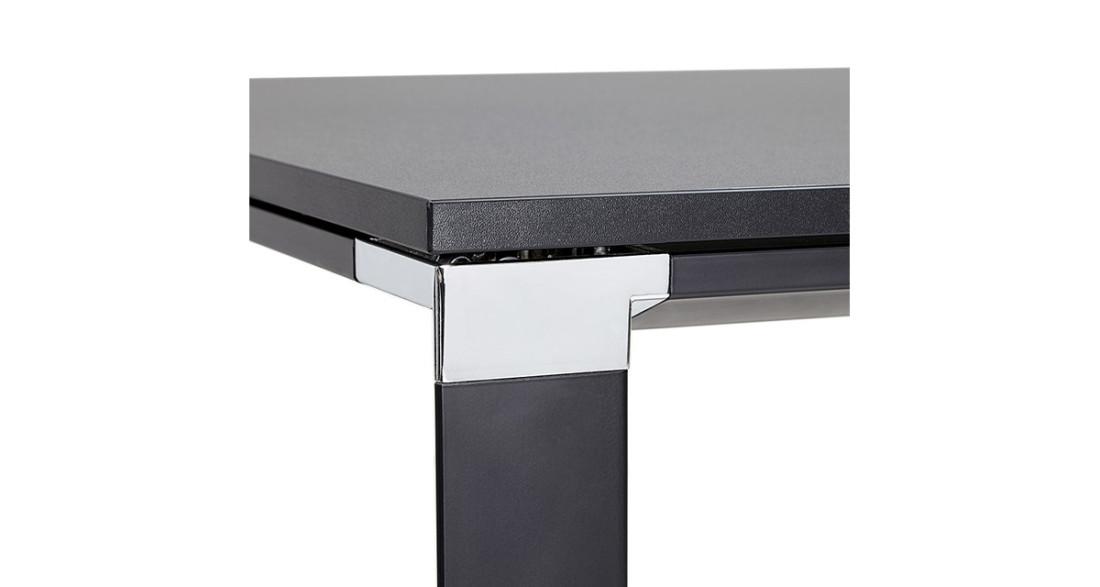 Bureau rectangulaire chic en bois noir cm kline