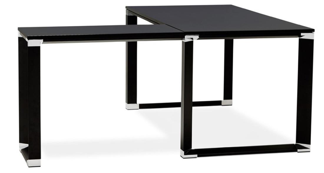 Bureau D Angle Modulable Moderne En Bois Noir Kline
