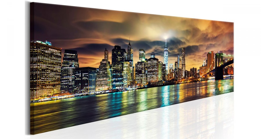 Tableau New York by Night - 3 coloris - 150 x 50 cm