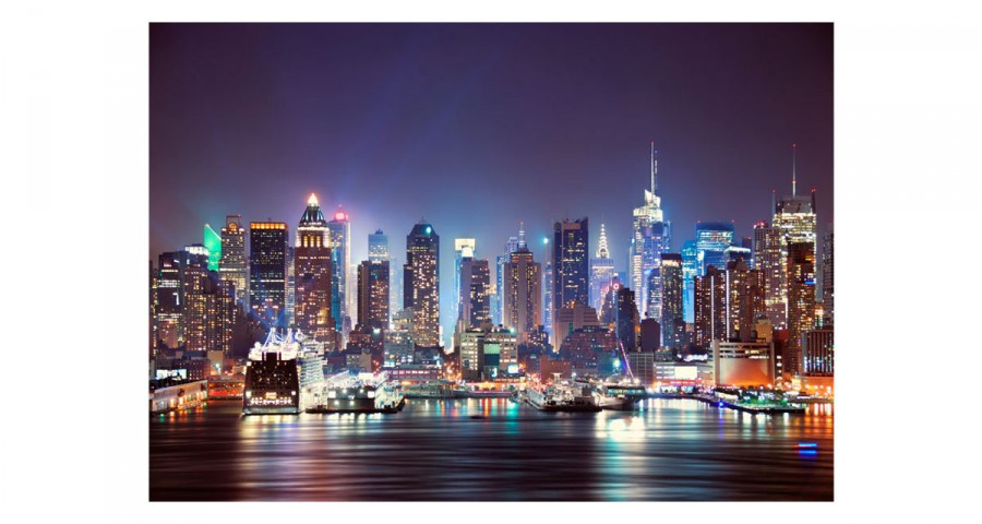Papier peint - New York by Night - 7 tailles