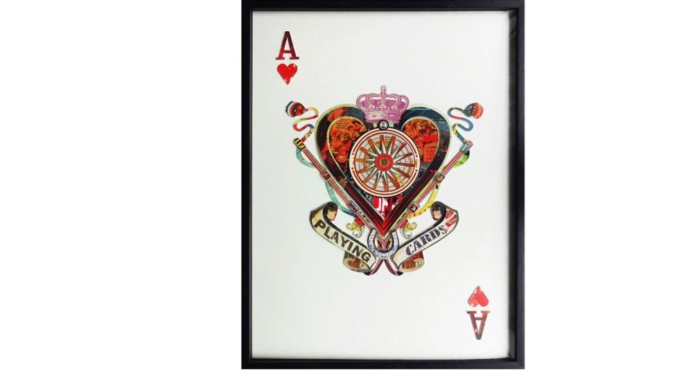 Tableau As de cœur 100 x 75 cm