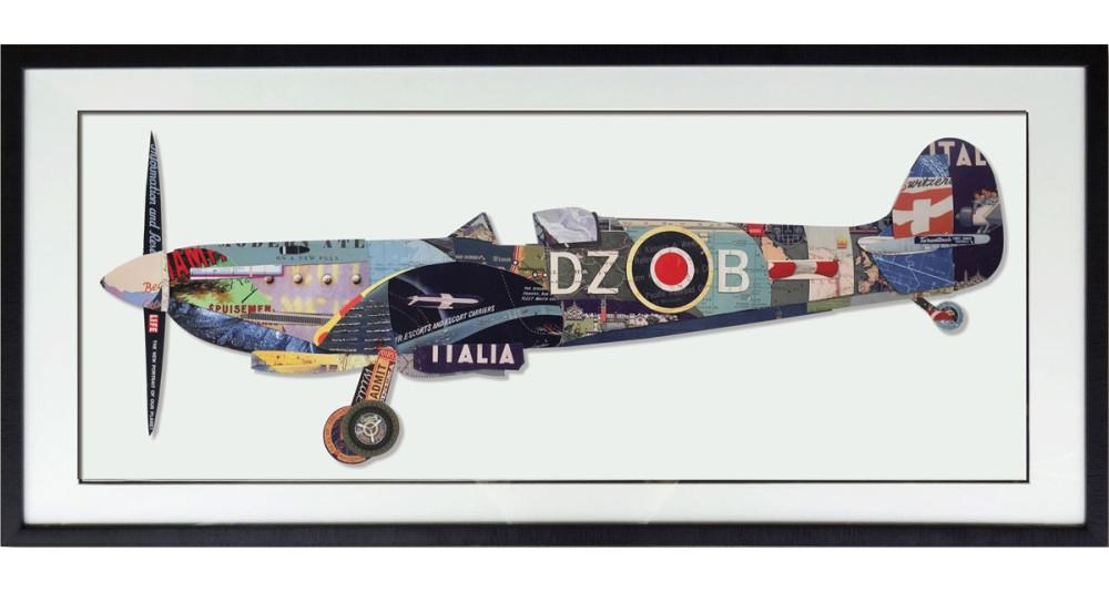 Tableau Avion de chasse 130 x 65 cm