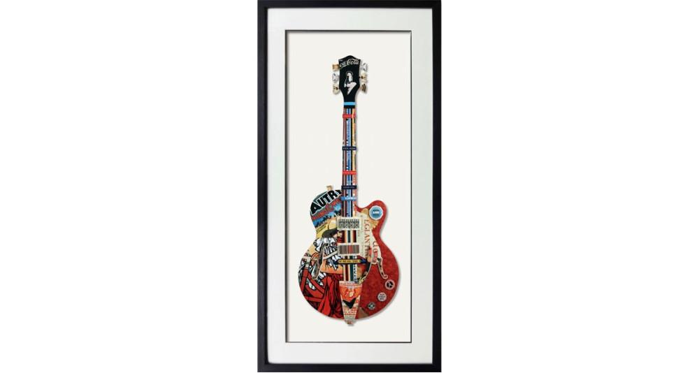 Tableau Guitare - 65 x 65 cm