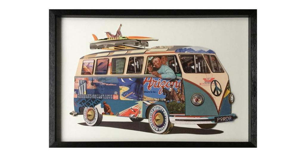 Tableau Van Combi Volkswagen - 60 x 90 cm