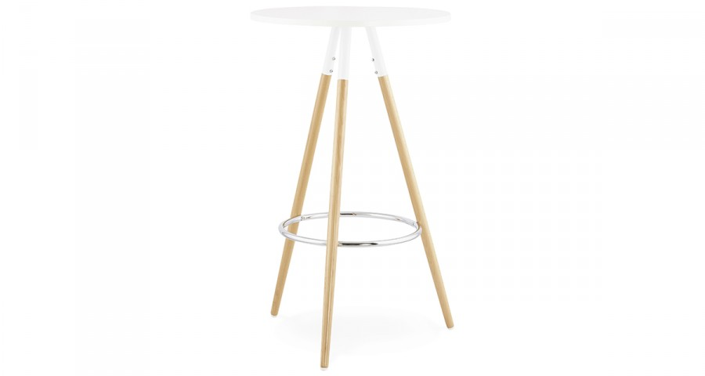 Table haute scandinave diamètre 65 cm Kanelbulle