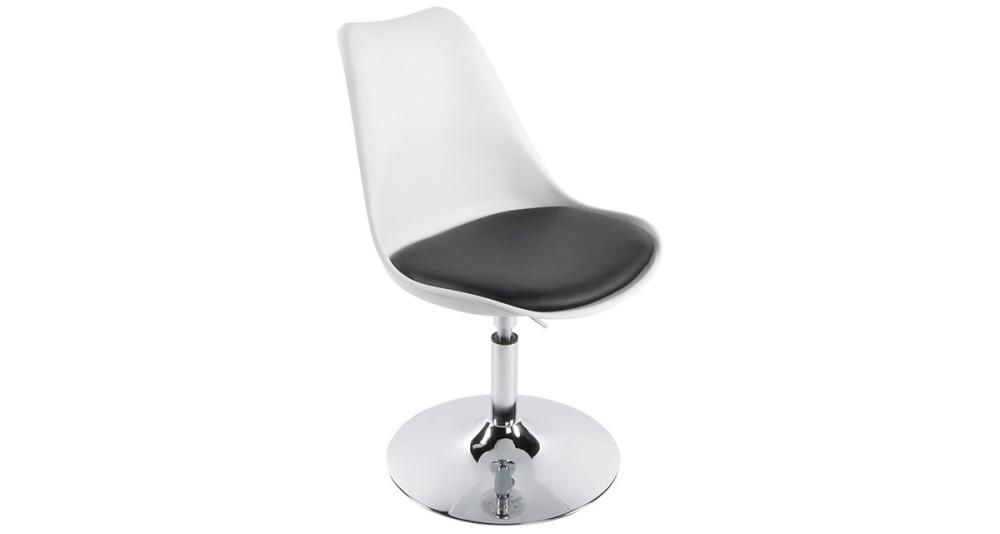 Chaise bicolore rotative à hauteur réglable Raphaël