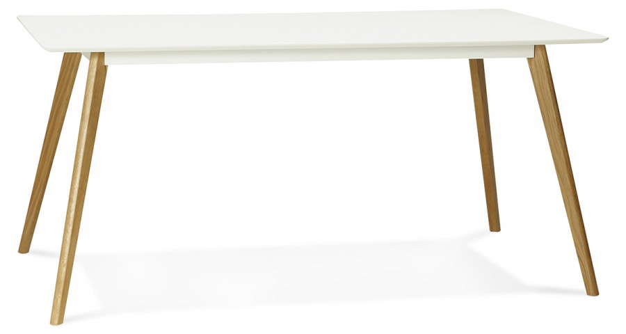 Table scandinave blanche 160 x 90 cm