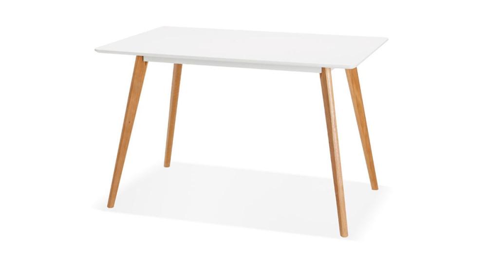 Table scandinave 120 x 80 cm pieds chêne massif Lisa