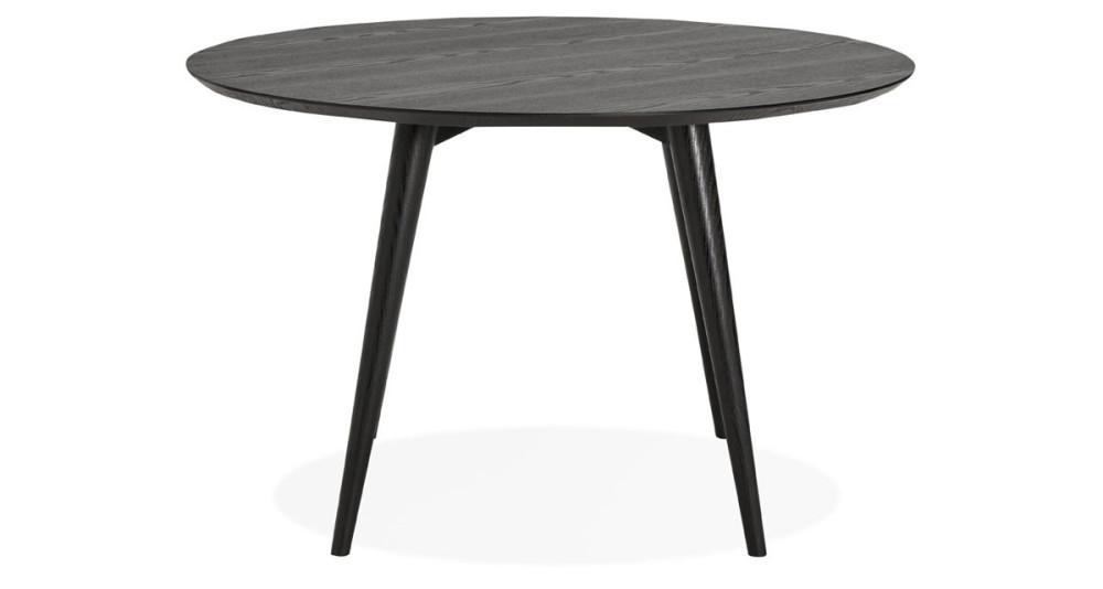 Table ronde diamètre 120 cm en bois noir Valentine