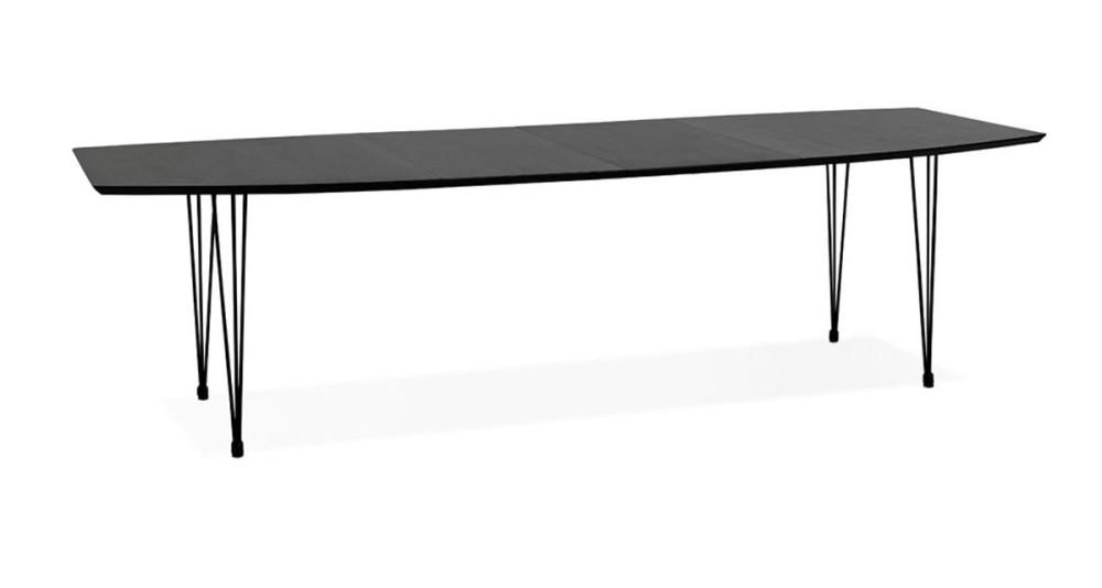 Table extensible noire 170 - 270 x 100 cm Aminata