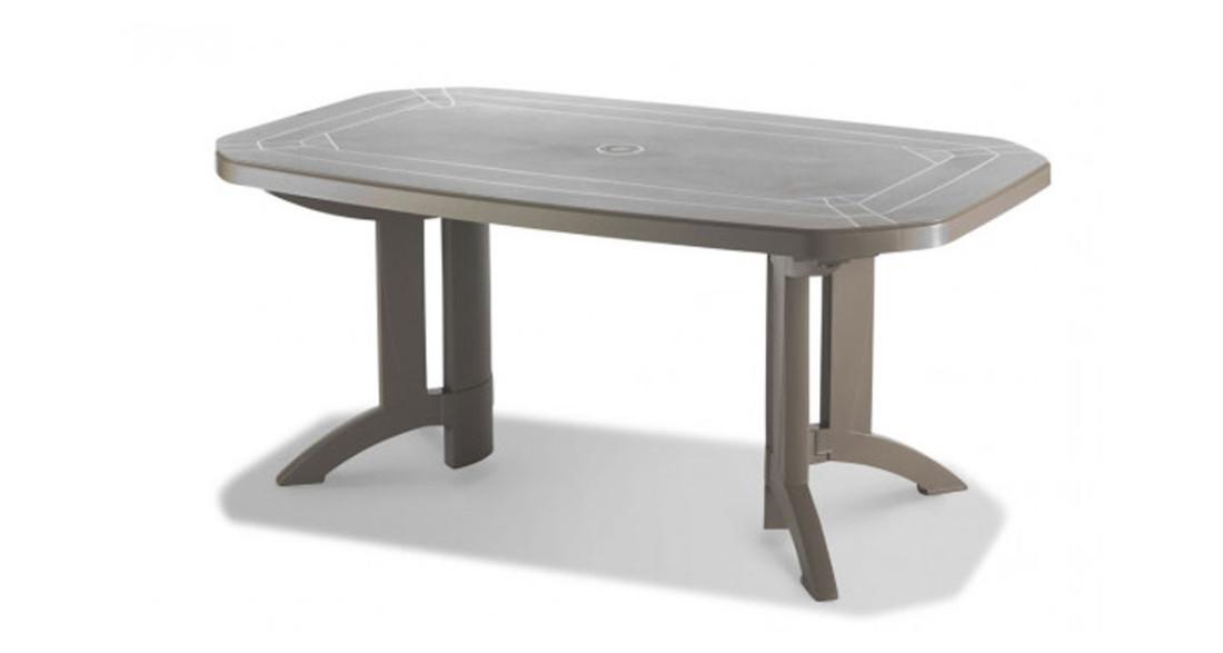 Lot 6 tables colorées Vega 165 avec pieds et plateau ...