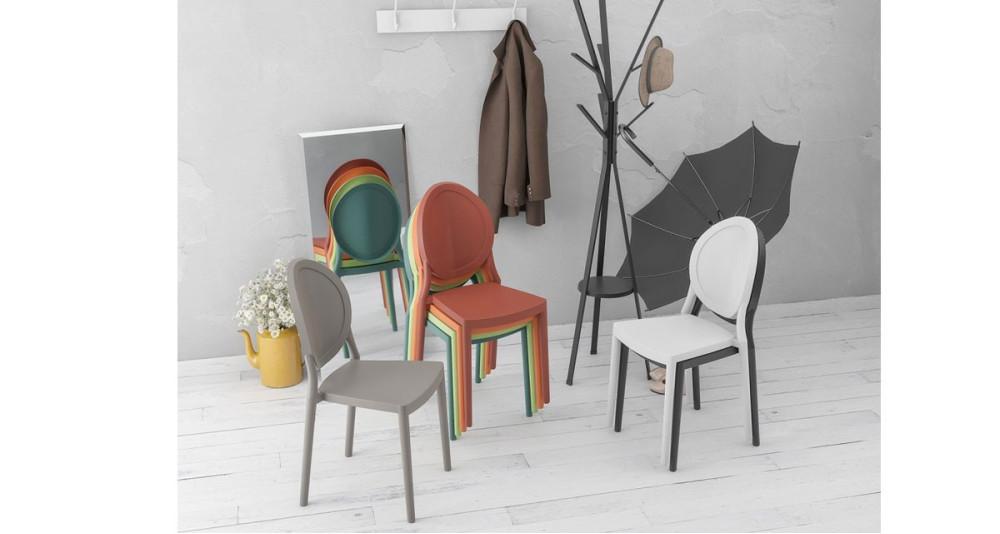 Lot 2 chaises médaillon colorées Loevan - 7 coloris