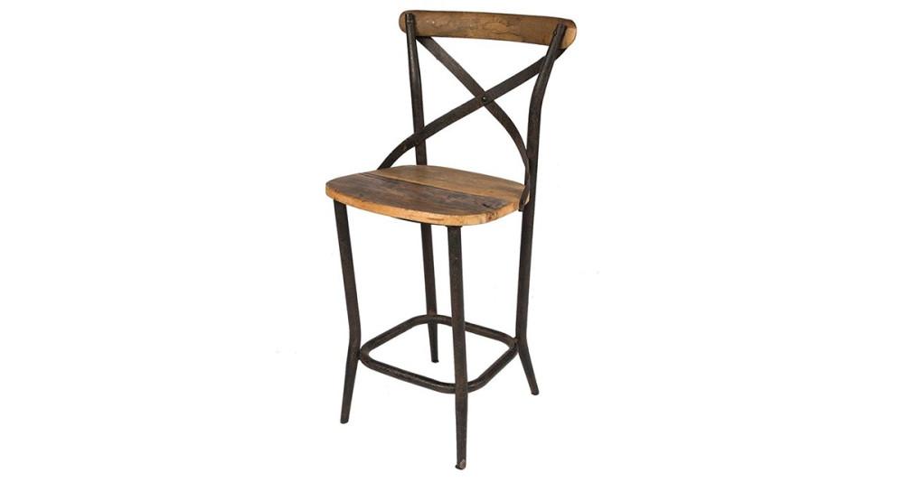Chaise de bar bistrot industrielle Durham