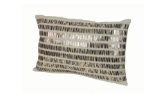 Lot de 2 coussins Tribal lin et sequins 30x45