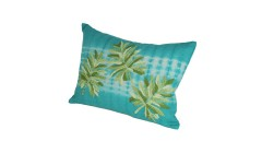 Lot de 2 coussins Tropical en lin brodé 35x50