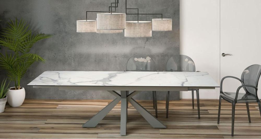 Table XL entensible plateau céramique Toronto - 3 coloris