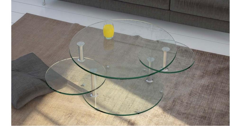 Table basse 3 plateaux ronds pivotants Millstreet - 3 coloris