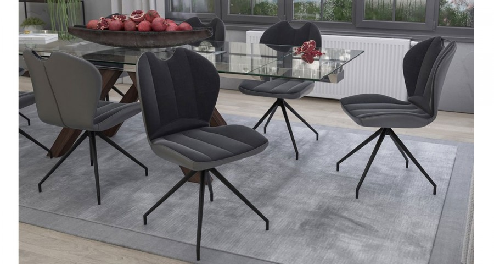 Chaise matelassée pivotante Batimore - 6 coloris