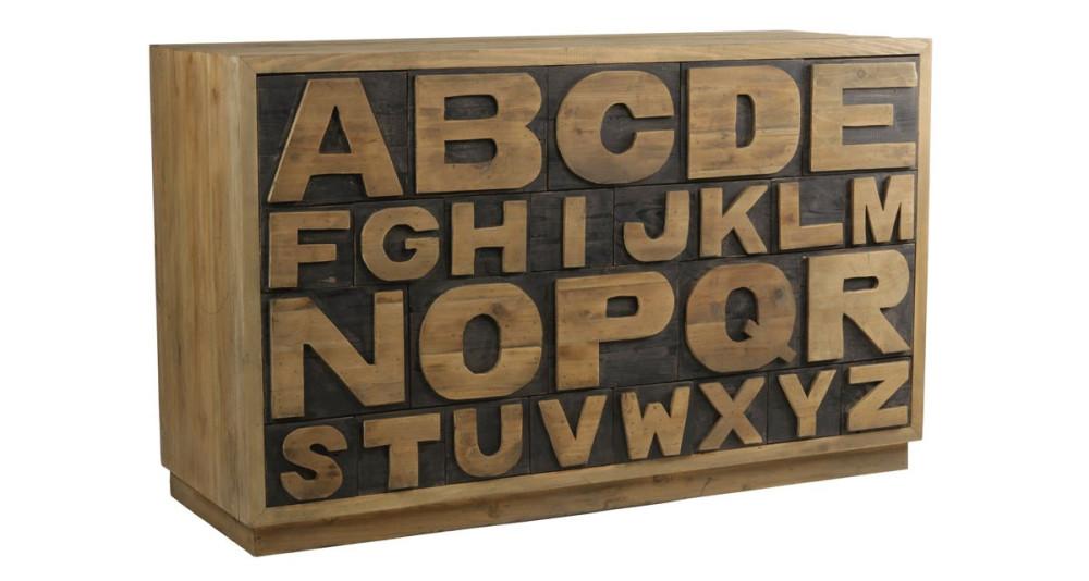 Chiffonnier alphabet 26 tiroirs Belstone