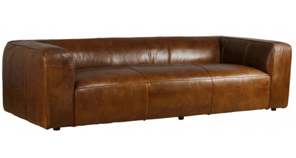 Grand canapé chic 4 places en cuir Terre Neuve