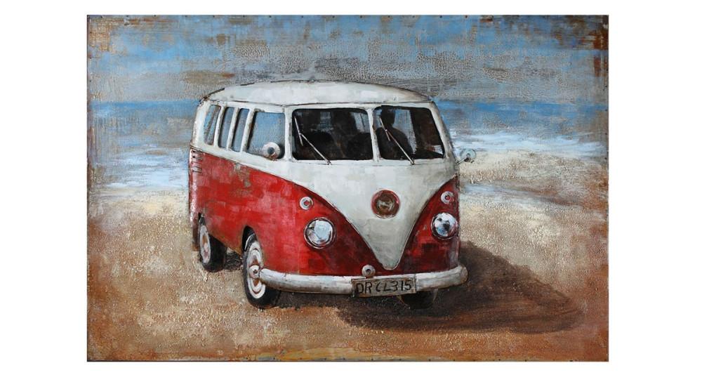 Tableau peinture de Combi VW 120 x 80 cm