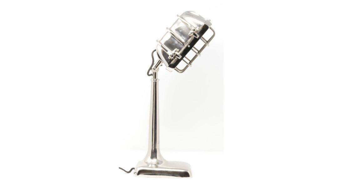À Métal Hollywood Poser Micro En Vintage Chromé Façon Lampe OymN8v0wn