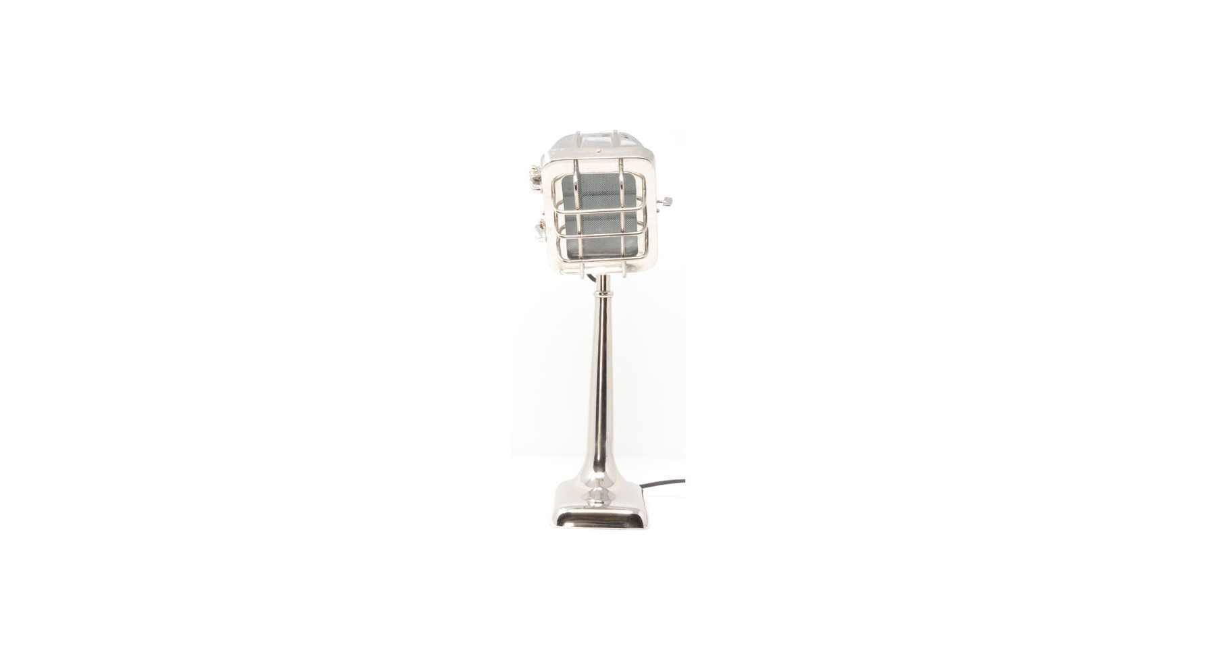 Chromé À En Façon Vintage Métal Micro Lampe Poser Hollywood 8wO0vmnyPN