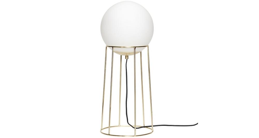 Grande lampe Boule verre et laiton