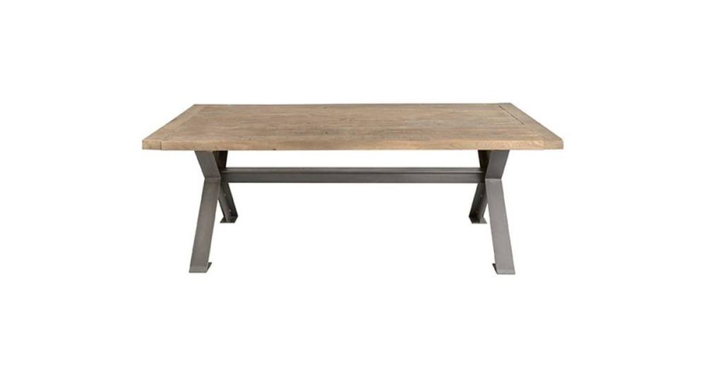 Table Cross en vieux bois