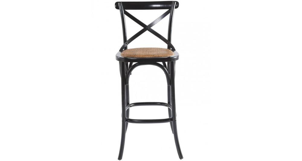 Chaise de bar Troquet noire