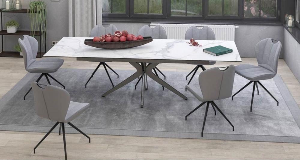 Table XL extensible en céramique Eloquence - 4 coloris