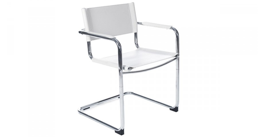 Chaise blanche pour accueil Meredith