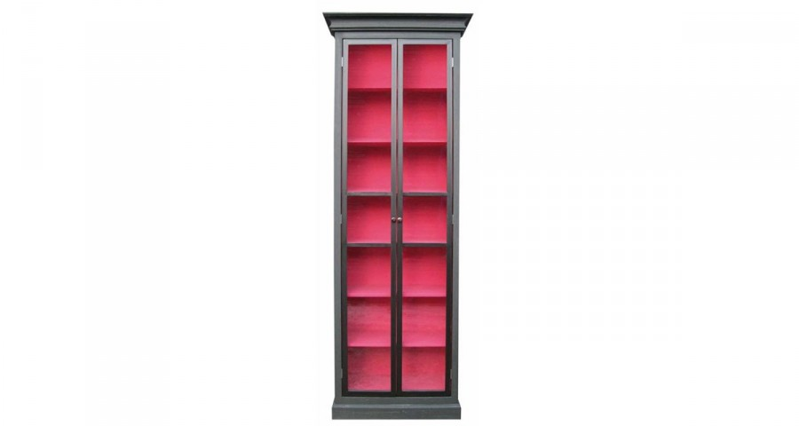 Vitrine bicolore anthracite et rose Channay
