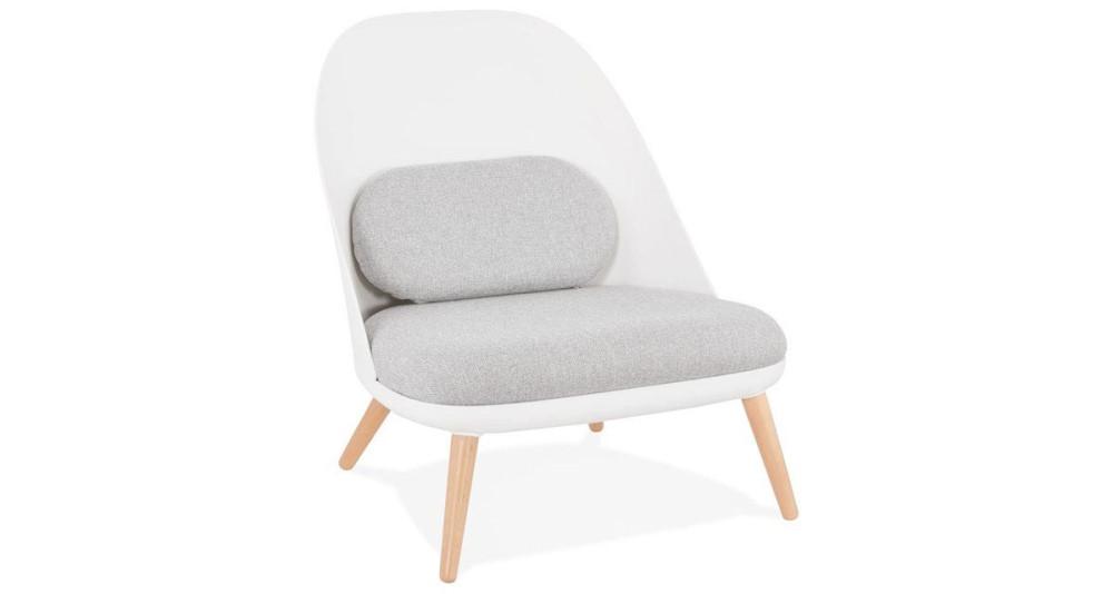 Fauteuil lounge scandinave blanc Säfsjön
