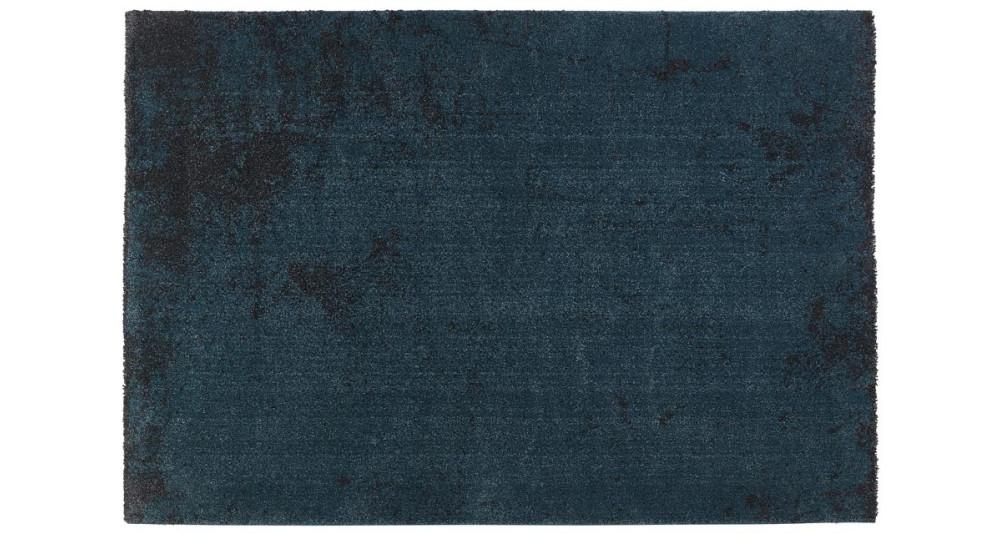 Tapis 160 x 230 cm design coloris bleu paon Azul