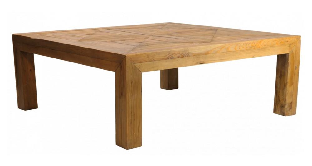 Table carrée 130 x 130 cm en bois Meadview