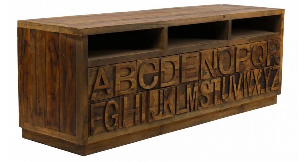Meuble TV 3 niches 20 tiroirs Belstone