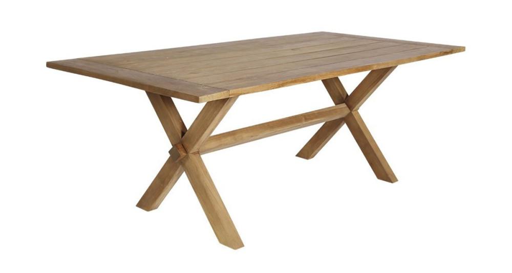 Grande table en teck Colonial