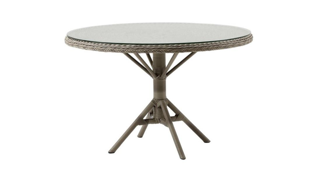Table ronde de jardin Grace en résine tressée 120 cm