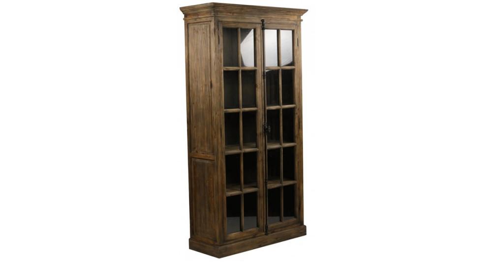 Armoire en bois à portes vitrées Drummond
