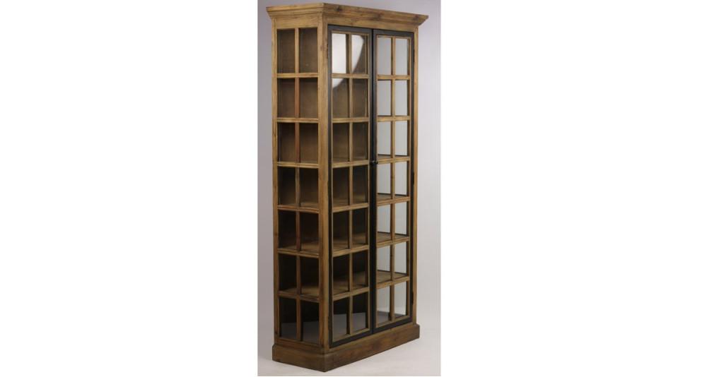 Vitrine 220 cm de haut en bois recyclé Ringling